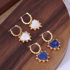 Tory Burch Love Natural Stone Shell Earrings